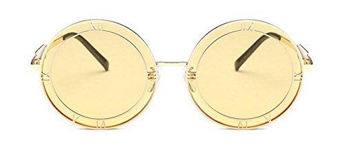 en Lennon lunettes polarisées du style inspirées Clair Pièce métallique de cercle Jaune retro vintage soleil rond xxAq8U1