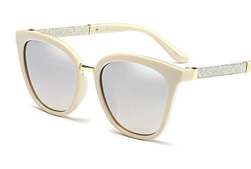Butterfly Sunglasses Cateye Glasses for Women Bling Glittered Plastic Frame (Cream Silver, - Eye Glitter Cat Glasses