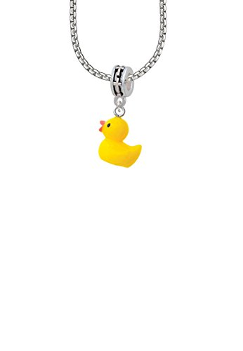 Resin Yellow Ducky Cross Bead Necklace