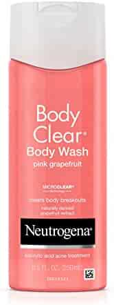 Neutrogena Body Clear Acne Treatment Body Wash with Salicylic Acid Acne Medicine to Prevent Breakouts, Pink Grapefruit Salicylic Acid Acne Body Wash for Back, Chest, and Shoulders, 8.5 fl. oz