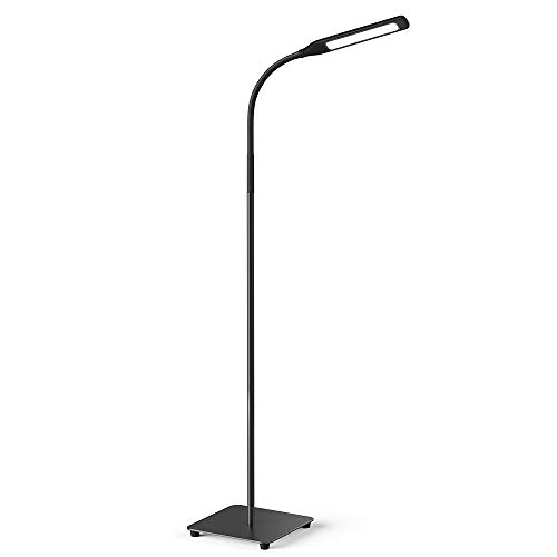 Miroco LED Floor Lamp with 4 Brightness Levels & 4 Colors Temperatures, Adjustable LED Floor Light, Dimmable Adjustable Reading Standing Lamp for Sewing Living Room Bedroom Office (Bedroom Reading Lamps)