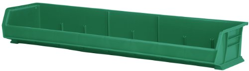 Akro-Mils 30320 8-Inch by 33-Inch by 5-Inch Wide Plastic Storage Stacking Akro Bin, Green, Case of 4 by Akro-Mils