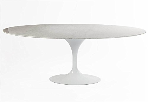 """Control Brand 79"""" Marble Tulip Cocktail Table, White"""