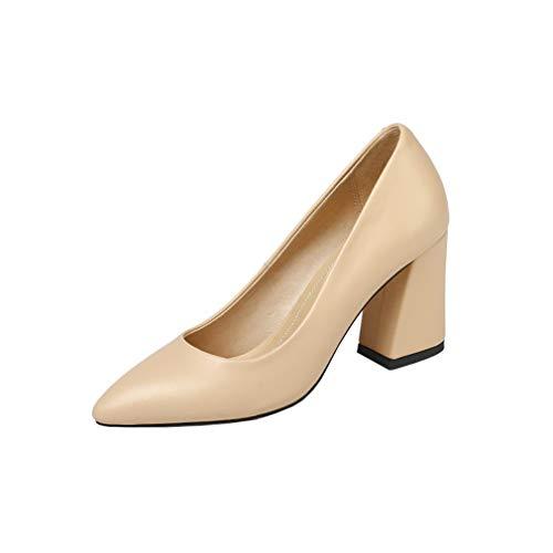 Puntiaguda Punta Vaneel Vadxpt Ponerse Mujer Beige 8cm Tacón Zapatos De PwqC14q