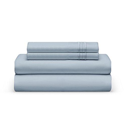 THE BEDSHEET CLUB Queen Bed Sheet Set   Deep Pocket 100% Hypoallergenic Brushed Microfiber (Shore)