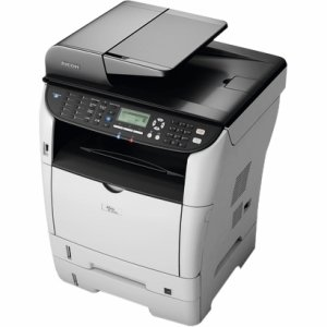 Ricoh Aficio SP 3500SF Laser Multifunction Printer - Monochrome - Plain Paper Print - Desktop - Copier/Fax/Printer/Scanner - 30 ppm Mono Print - 1200 x 1200 dpi Print - 30 (Ricoh Plain Paper Fax)