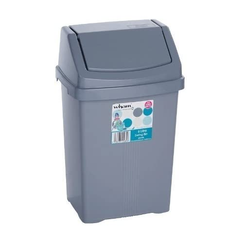 8L 8 Litre Waste Rubbish Refuse Kitchen Bedroom Bathroom Plastic Small Swing Bin