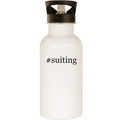 (#suiting - Stainless Steel Hashtag 20oz Road Ready Water Bottle, White )