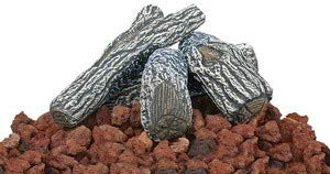 (Uniflame Lava Rock and Log Kit for Propane Fire)