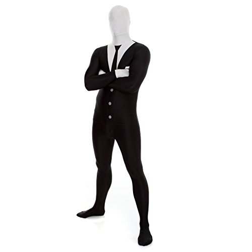 Morphsuits Men's Zalgo Monster Adult Fun Costume, Slenderman, Large