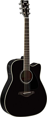Yamaha FGX830C Solid Top Cutaway Acoustic-Electric Guitar, Rosewood Body, Dreadnought, Black ()