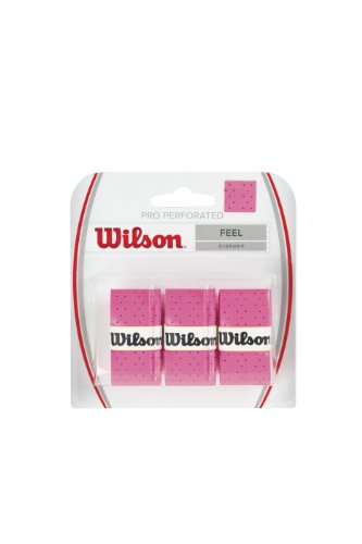 Wilson Perforated Pro Tennis Racquets Over Grip, Pink