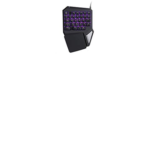 HLOIPYUR 104 Keys Durable Backlit Gaming USB Keyboard Multimedia Illuminated Color LED USB Wired for PUBG