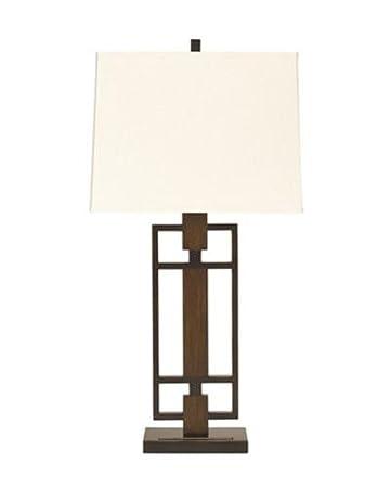 ashley furniture signature design omaris table lamp metal and wood set of