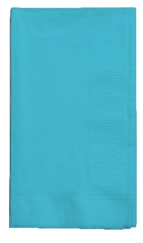 Set of 2 Creative Converting Touch of Color 50 Count 2-Ply Bermuda Blue Dinner Paper Napkins bundled by Maven Gifts Bermuda Blue Dinner