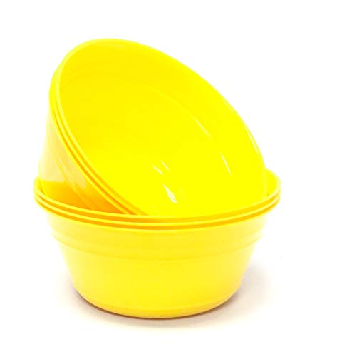 Mintra Home Plastic Snack Bowls (Medium 6pk (1.8L), Yellow) -