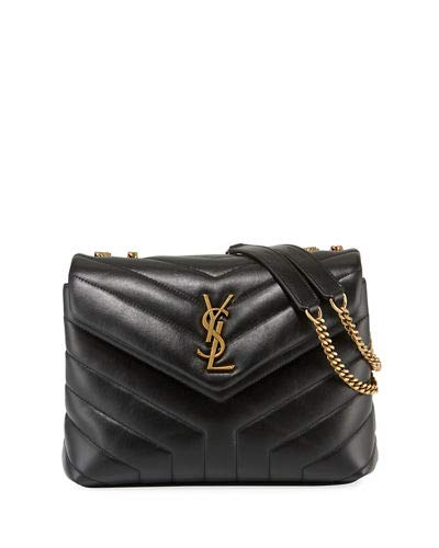 Saint Laurent Loulou Monogram YSL Small V-Flap Chain Shoulder Bag - Lt.  Bronze 23310c10a1f8f