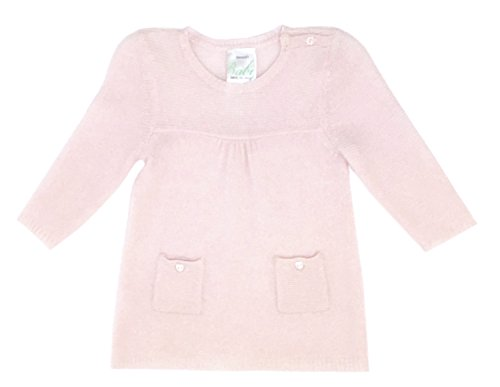 bloomies-infant-girls-rib-links-yoke-dress-precious-pink-size-9-months