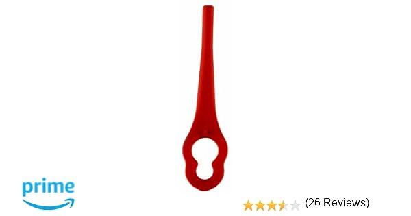 Einhell 3405730 Cuchillas DE Recambio para GE-CT 18 Li (20 Piezas), Rojo, 25 x 60 x 95