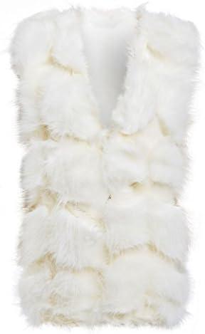 Womens Fur Gilet Ladies Size 8 10 12 14 Waistcoat Winter Bodywarmer Jacket