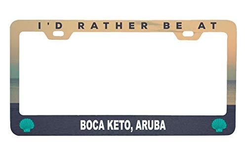 - R and R Imports Boca Keto Aruba Sea Shell Design Souvenir Metal License Plate Frame