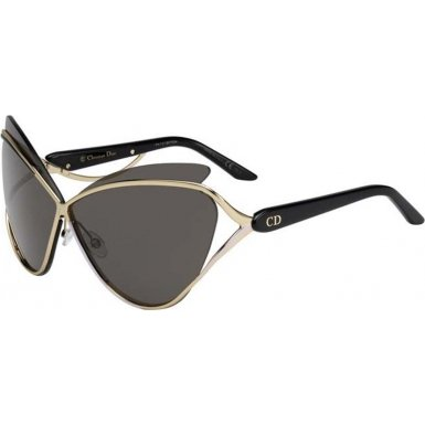 Dior 4BT Matt Black and Gold Audacieuse 1 Cats Eyes Sunglasses Lens Category - Dior Gold Christian Sunglasses Black And