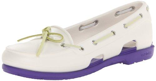 Crocs Womens Beach Line Boat Shoe Oyster/Ultraviolet