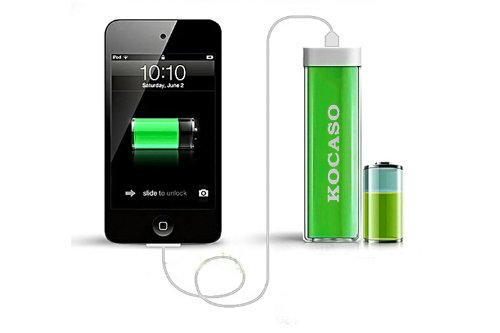 Kocaso 2600 mAh Lipstick-Style Flash Charger (T413 Green)