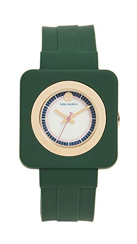 Tory Burch Women's The Izzie Watch, 36mm, Ivory/Gold/Green, One Size