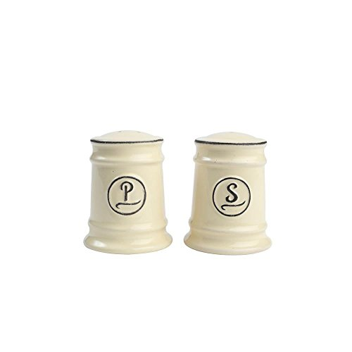 T&G Woodware Pride of Place Salt and Pepper Shaker Set, Old Cream
