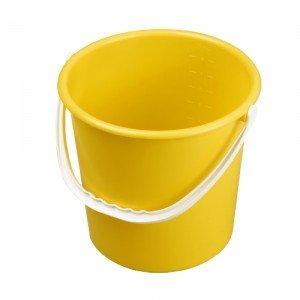 Round Bucket 10 Litre Yellow AUK