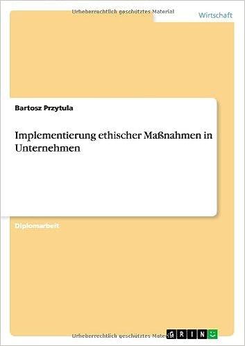 Book Implementierung Ethischer Massnahmen in Unternehmen
