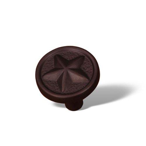 [Rk International - Rki Rugged Texas Star Knob (Rkick209Rb)-Oil Rubbed Bronze] (Rugged Texas Star Knob)