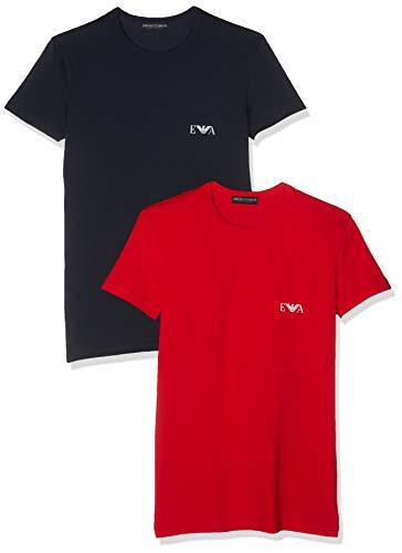- Emporio Armani Men's 2 Pack Crew T-Shirts, Multicoloured, Medium