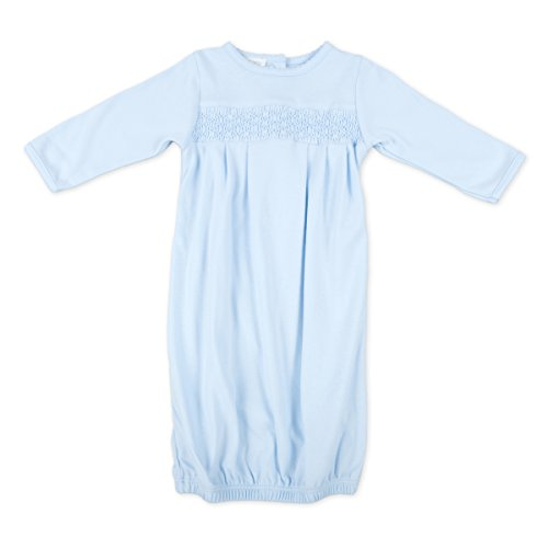 Magnolia Baby Baby Boy MB Essentials Smocked Gown Solid Blue