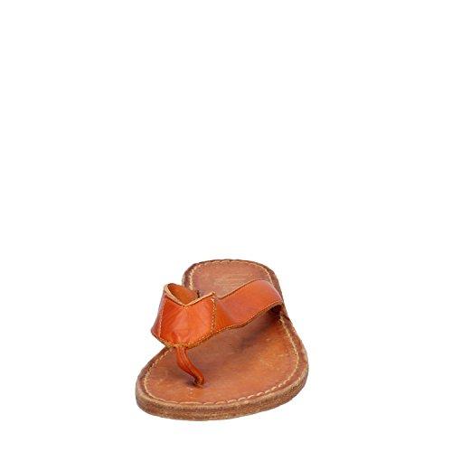 Orange Eddy Daniele Femme Cuir Sandales 6wqSx8Iw