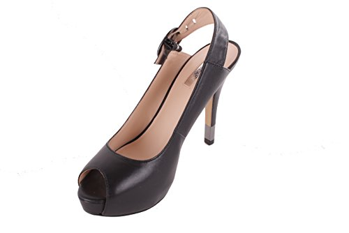 GUESS Damen Pumps Highheels Stilettos Riemchenpumps Plateau Schwarz