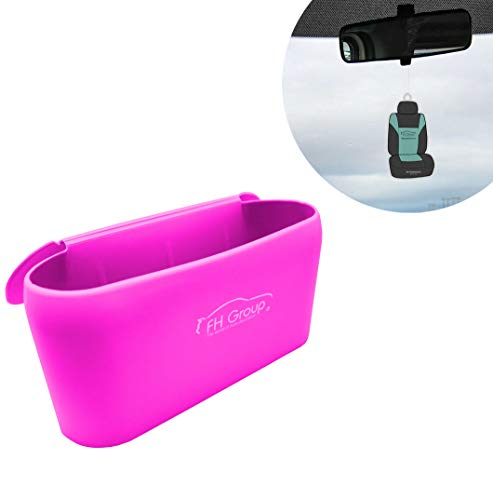 FH Group FH3023 Silicone Garbage Can Tray Bin, Waterproof Durable, Portable Small Waste Trash for car, Office, and Home, Pnk Color-Fit Most Car, Truck, SUV, or Van