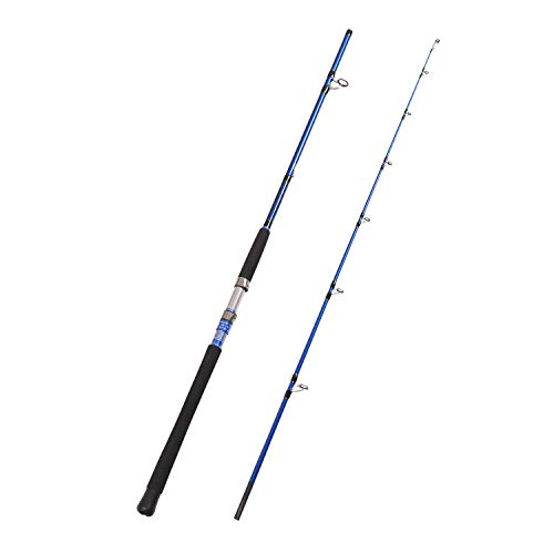 Fiblink 2-Piece Saltwater Spinning fishing Rod offshore Graphite Portable Fishing Rod (7-Feet) (7' Medium Heavy)