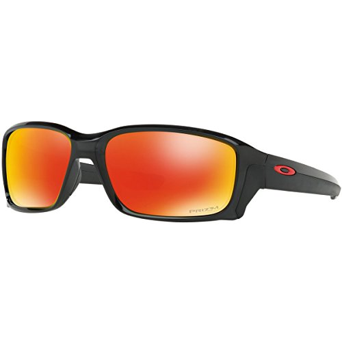 Oakley Men's OO9331 Straightlink Rectangular Sunglasses, Black Ink/Prizm Ruby, 61 mm (Sunglasses Oakley Orange)