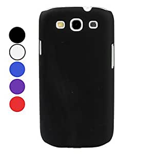 Piaopiao Frosted Matte Hard Case for Samsung Galaxy S3 I9300 (Assorted Colors) , Black