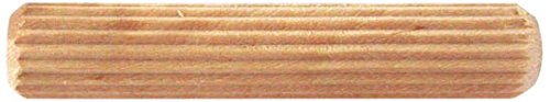 Bulk Hardware BH02468 Fluted Wooden Dowel, M8 x 30  (5/16 inch x 1.1/4 inch) - Pack of 50