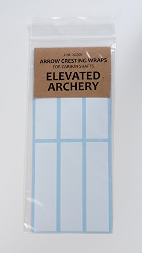 Elevated Archery Arrow Cresting Wraps for Carbon Shafts Pack of 24 (White, 4