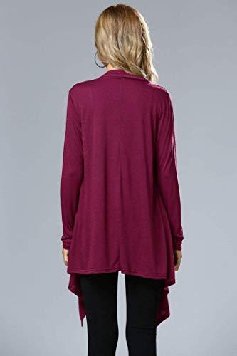 Size Colore Elegante Donna Cardigan Winered marca Cappotto A Lunga Mode Manica Moda Lunga Color Casual Puro Maglia M Sottile Cappotto di Autunno fZRFzqpf