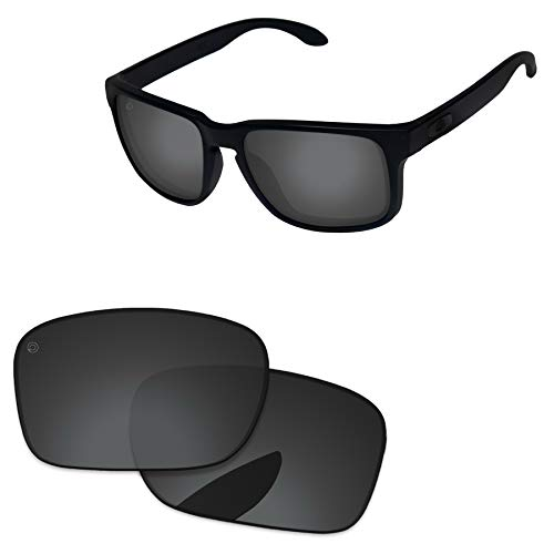 (PapaViva Lenses Replacement for Oakley Holbrook Pro+ Black Grey Polarized)