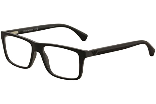 Emporio Armani EA 3034 Men's Eyeglasses Black/Rubber Grey ()