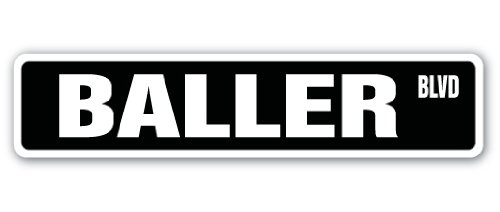 - Baller Street Sign Made it pro Ball Player | Indoor/Outdoor |  18