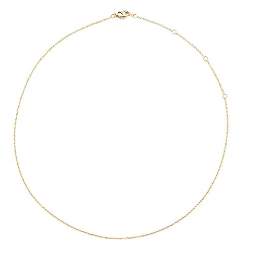 HONEYCAT Thin Chain Adjustable Choker in 24k Gold Plate (13