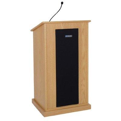 (Chancellor Lectern w 4 Speakers, Handheld Mic & Hidden Casters)