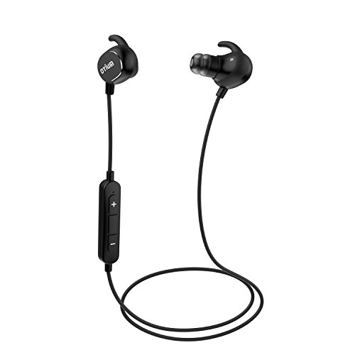 Otium Bluetooth Headphones Lightweight Wireless In-ear Earbuds Quick Charge Sweatproof Line Control - Black